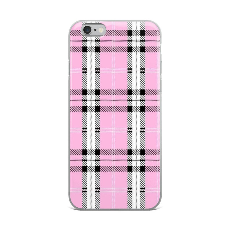 huge selection of 06730 5a477 Pink Plaid iPhone Case