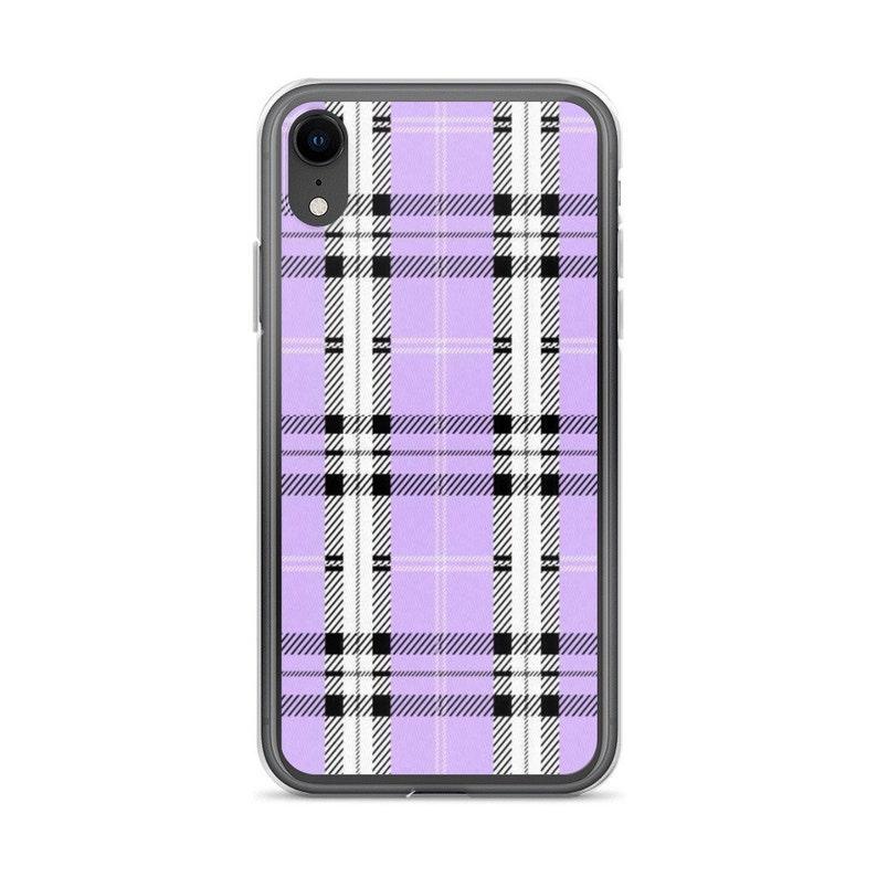the best attitude e78e1 088ae Purple Plaid iPhone Case