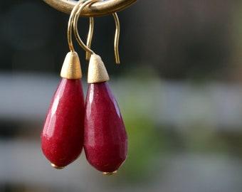 Edelstein Ohrstecker Amethyst Lila Perle 8mm Ohrpins Ohrringe Gratis Stopper