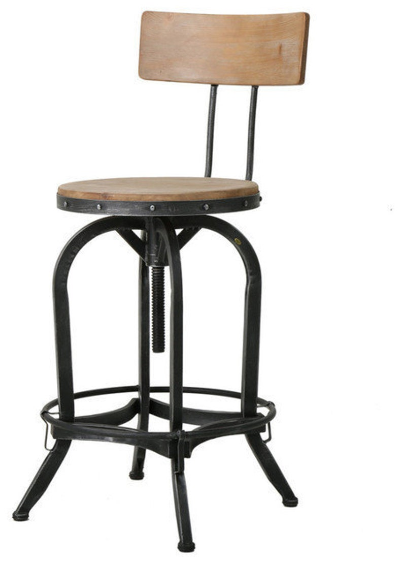 Astonishing Vintage Wood Iron 360 Swivel And Adjustable Bar Or Dining Stool Stool Adjusts From 25 75 To 32 5 In Height Farmhouse Stool Etsy Stool Bralicious Painted Fabric Chair Ideas Braliciousco