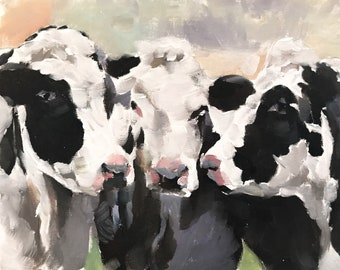 Cow painting | Etsy