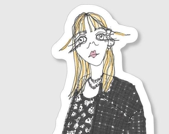 Stickers à l'unité - La fille en croco noir