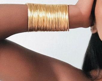 African Bracelet, African Bangle. ABU GODDESS Statement Bangle Manchette