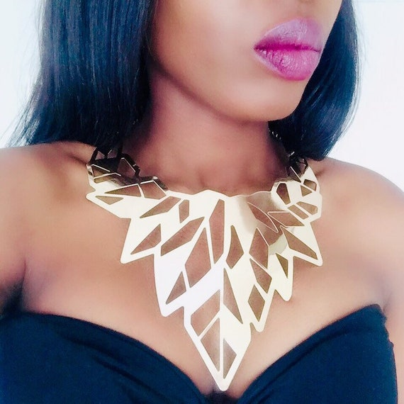 Choker African Queen Jewellery Style Wedding Adjustable Beautiful design Luxor Gold Statement Choker Leather Necklace