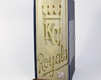 Folded Book Pattern, Book folding pattern, Baseball, MLB, KC Royals,