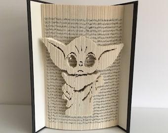 Baby Yoda Book Folding Pattern, Star Wars, Mandalorian, Yoda