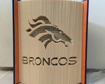 Folded Book Art Pattern, Denver Broncos, Bronco, Horse, Football
