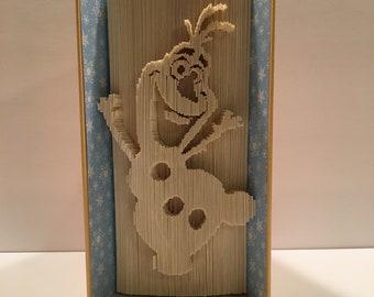 Olaf Book Folding Pattern, Folded Book Pattern, Olaf, Frozen, Snowman