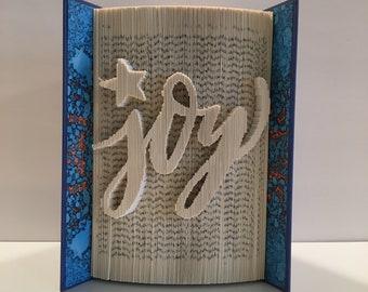 Folded Book Art Pattern - Joy, Pattern for Book Folding, Word Pattern for book folding, Christmas Book folding pattern