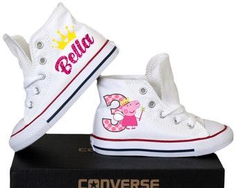 fd8dd37330364 Peppa birthday shoes | Etsy