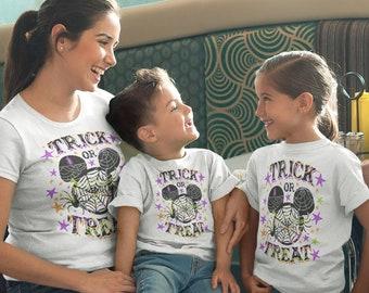 Halloween Shirts for Family- Matching Family Halloween Shirts, Trick or Treat, Mickey, Magic Kingdom Shirt, Plus Size Halloween, Kids, Men