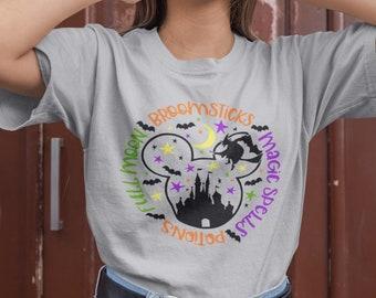 Halloween Shirt for Disney - Halloween Vibes, Hocus Pocus, Castle Shirt, Mickey Mouse Halloween, Disney Halloween Shirts, Plus Size Womens