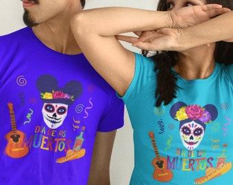 Disney Halloween Shirt | Disney Couples Shirts, Sugar Skulls Dia De Los Muertos Shirt, Disney Coco Day of the Dead Shirt, Disney Shirt,