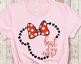 Disney Shirt | Best Day Ever Shirt Minnie Mouse Shirt | Family Matching Shirt | Plus Size Disney Shirt | Magic Kingdom Castle Shirt