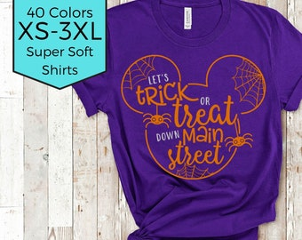 Disney Halloween Shirt | Trick or Treat Down Main Street USA | Disney Shirt| Disney Plus Size Shirt | Magic Kingdom Shirt | Mickey Halloween