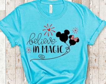 Disney Shirts | Disney Family Matching Shirts | Believe in Magic Shirt | Plus Size Disney Shirt | Disney Tank Tops