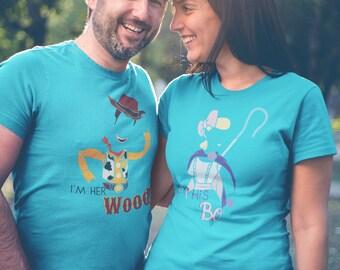 Toy Story 4 Couple Shirt   Disney Couples Shirt   Honeymoon Shirt   Toy Story Sheriff Woody Shirt   Plus Size Disney Shirts   Toy Story Land