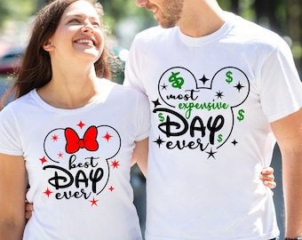 Disney Family Shirts | Disney Couples Shirts | Disney Best Day Ever Shirt | Disney Most Expensive Day Ever Shirt | Minnie Mouse Shirt