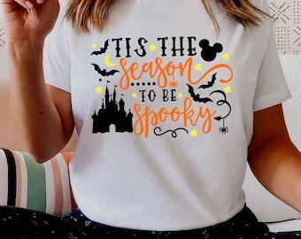 Tis the Season to be Spooky Halloween Shirt, Disney Castle Halloween, Matching Family Vacation Shirts, Halloween, Spooky Season, Plus Size