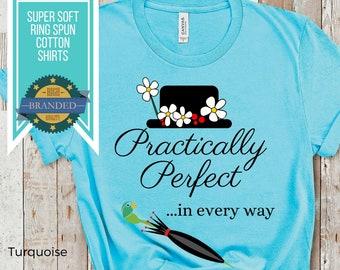 Mary Poppins Shirt   Disney Shirts   Practically Perfect in Every Way Women's Shirt   Magic Kingdom Shirt   Plus Size Disney Shirt for Women