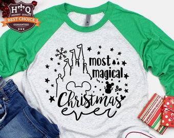 Disney Christmas Shirt  Disney Castle Shirt   Disney Shirts   Family Christmas Shirt   Plus Size Disney Shirt   Women's Christmas Shirt