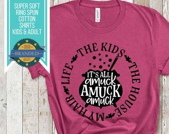 Hocus Pocus Halloween Shirt   Sanderson Sisters , Mom Halloween Shirt, Disney Halloween, Mother Shirt, Amuck Amuck Amuck, Plus Size,