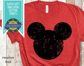 Vintage Mickey Mouse Shirt   Disney Shirts   Plus Size Disney   Distressed Mickey Mouse   Disneyland Shirts   Disney Cruise Shirts for Him