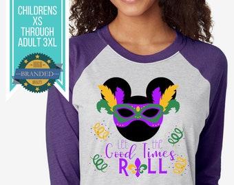 Disney Shirts | Disney Mardi Gras Shirts | Let the Good Times Roll Mickey Disneyland Shirts | Plus Size Disney Shirt | Disney Tank Tops
