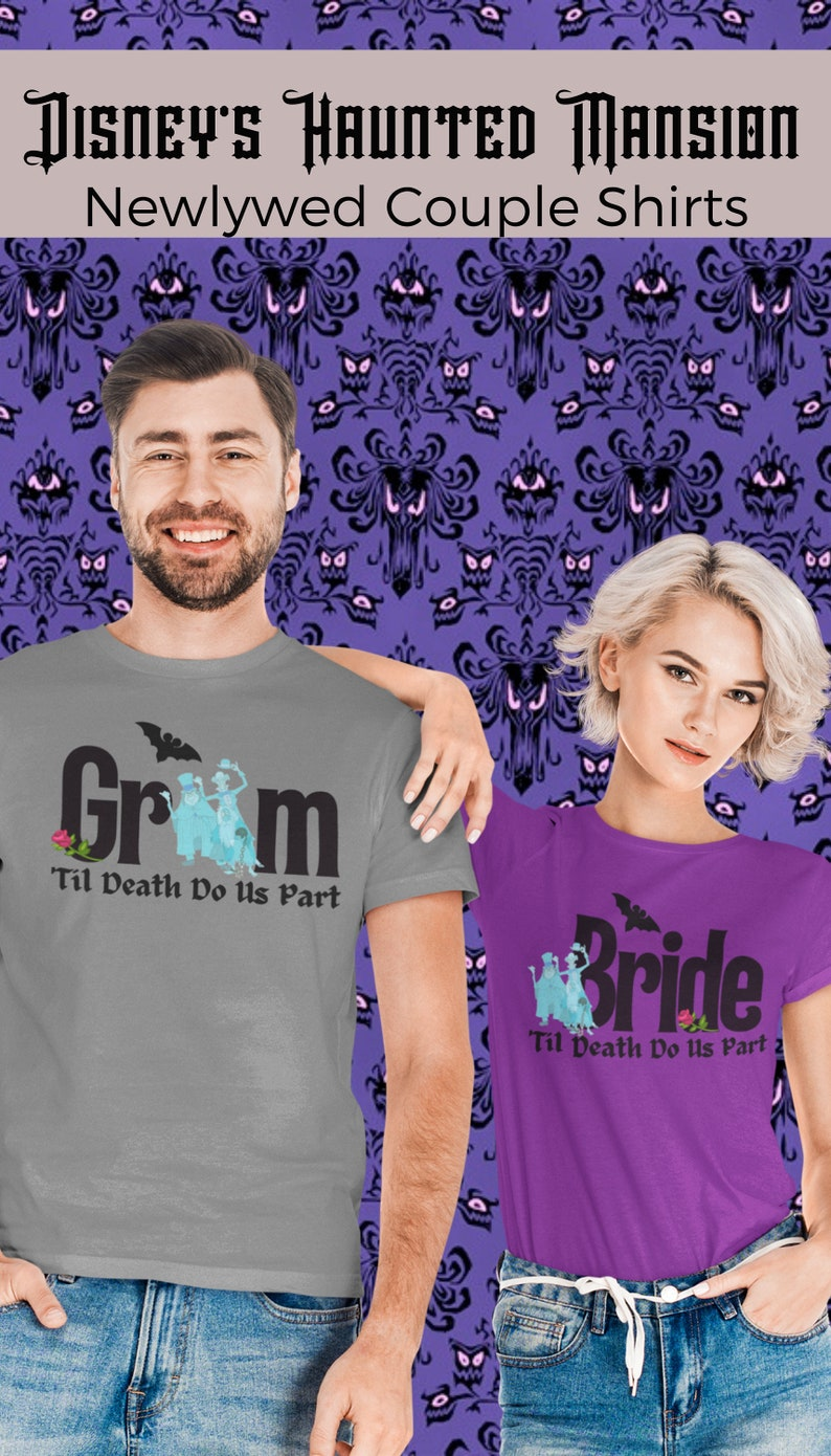 Disney Haunted Mansion Couple Shirt  Disney Couples Shirt  image 0