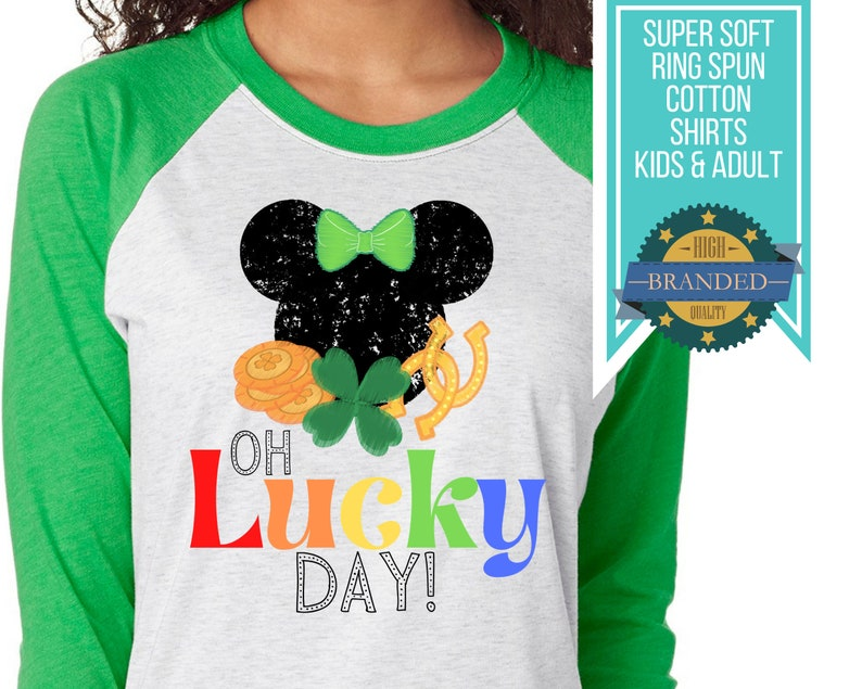 Disney St. Patrick's Day Shirt  Oh Lucky Day St Patrick image 0