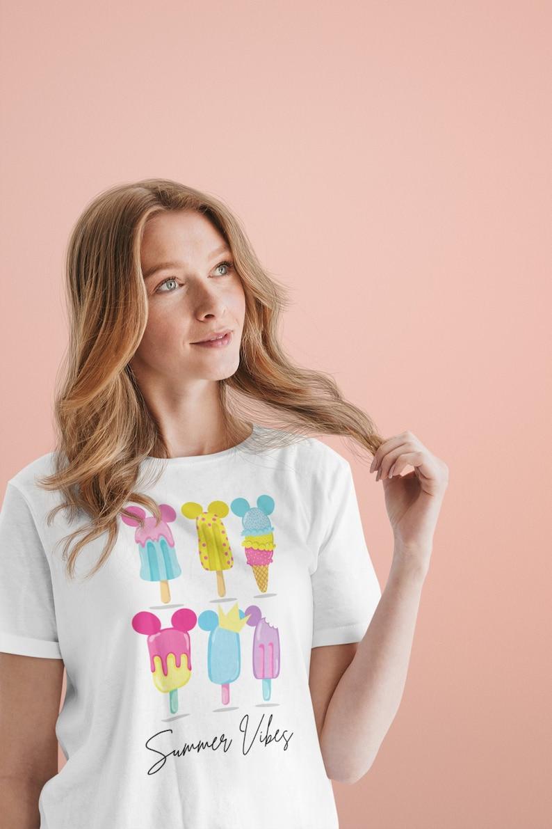 Disney Summer Vibes Shirt  Mickey Snacks Shirt for Women  image 0