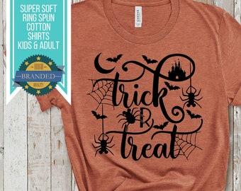 Disney Halloween Shirt | Trick or Treat Mickey Spider | Disney Shirts | Disney Plus Size Shirt | Halloween Trick or Treat Down Main St Shirt
