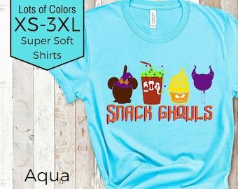 Disney Halloween Shirt | Disney Snacks - Snack Ghouls | Disney Shirt| Disney Plus Size Shirt | Magic Kingdom Shirt | Disney Villains Shirt