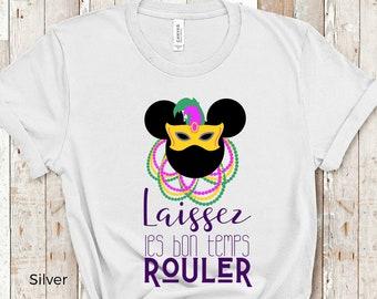 Disney Shirts | Disney Mardi Gras Shirts | Laissez les bon temps Rouler Mickey Disneyland Shirts | Plus Size Disney Shirt | Disney Tank Tops