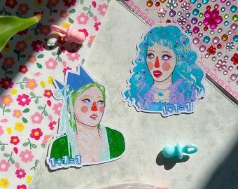 Hyuna & Dawn holographic stickers