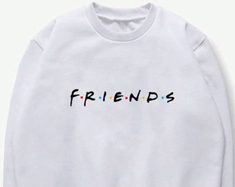 3b9eff23f Best Friends Sweatshirt Letter Printed Loose Casual Hoodies