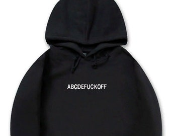 4735d2b4cd653 Abcdeffuckoff Hoodie Funny Letter Print Anti Social Club Casual Street Style