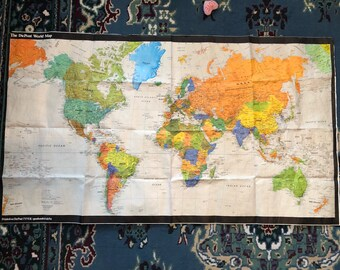 World Map 1980 1980 world map | Etsy