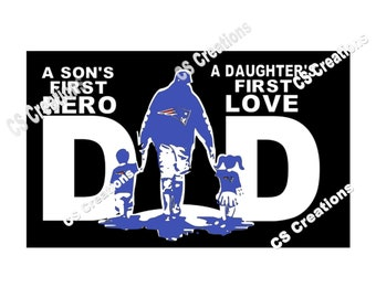 6b2b3bad Dad - A son's first Hero, a daughter's first love SVG/PNG