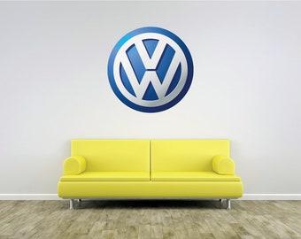 VW 4.5in Wolfsburg Logo Decal//Window Sticker