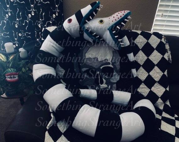 Burtonized Beetlejuice Sandworm Inspired Stuffed Animal 8 17 Etsy