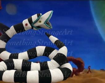 Beetlejuice Sandworm Plush- 8ft to 17 ft long Stuffed Animal Plushie Cute Version