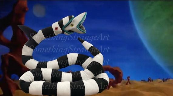 Beetlejuice Sandworm Plush 8ft To 17 Ft Long Stuffed Animal Etsy