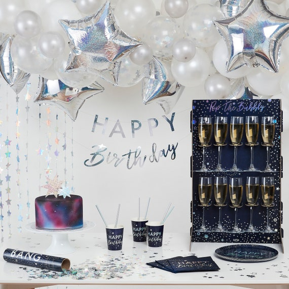 Prosecco Drinks Wall Stand Pop the Bubbly Iridescent Foiled 10 Holders