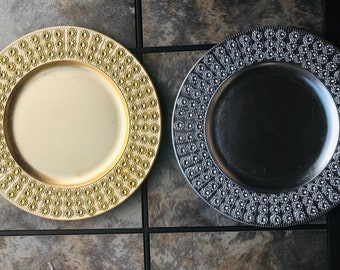 Blank Bling Charger Plate, Silver and Gold Available. Inspirational, Christmas, Holiday Decor, Diamond Bling, Weddings, Centerpieces