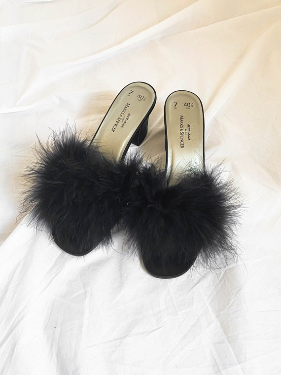 Vintage Marabou Shoes - image 3