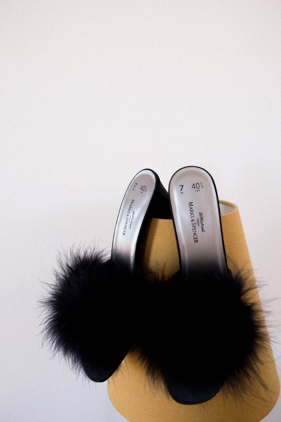 Vintage Marabou Shoes - image 1