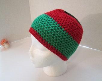 Handmade Bold African Colors Crochet Beanie db0e6e624bd