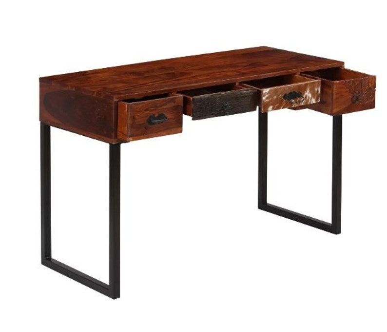 Vintage Console Table, Industrial Hall Table, Massive Wood Dressing Table,  Writing Desk, Flur Konsolentisch, Rustikale Ablagetisch,