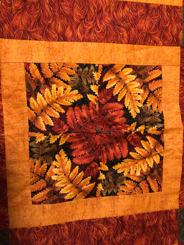 Fussy coupe couleurs d'automne Quilt